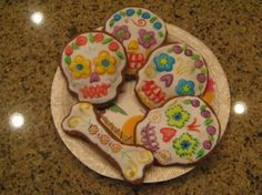 sugar skull cookies. Did I get that skull shaped cookie cutter? I don't think I did...yet.