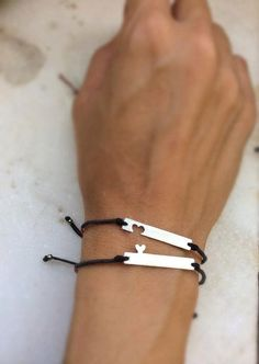 Mother Daughter Bracelets, sterling silver sisters bracelets, best friends bracelets, Set of 2, Mother Daughter Gift, Simple bracelet