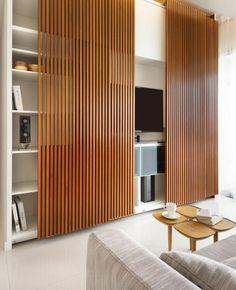 porte à galandage en bois pour cacher les meubles