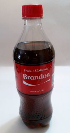 Share a Coke with BRANDON-2015 LIMITED EDITION 20 oz. Coca-Cola-Hard to Find…