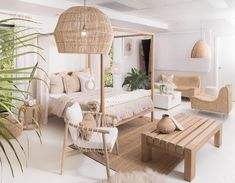 Interior Living Room Design Trends for 2019 - Interior Design Home Decor Bedroom, Interior Design Living Room, Living Room Designs, Living Room Decor, Dining Room, Bali Bedroom, Beach Interior Design, Ibiza Style Interior, Coastal Master Bedroom