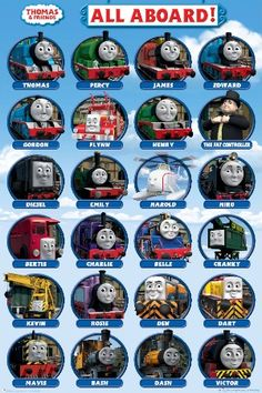 Thomas & Friends - All aboard poster.