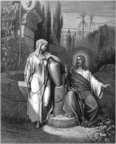 Jesus and a Samaritan woman at Jacob's well I