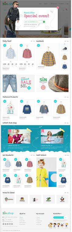 Buy Bimshop – Kidstore Responsive Magento Theme by themevast on ThemeForest. Bimshop – Kidstore Responsive Magento Theme is a the best design magento 2015 with full responsive and Banner Design Inspiration, Website Design Inspiration, Website Design Layout, Web Layout, Kids Graphic Design, Amazing Website Designs, Kids Web, Catalog Design, Kids Store
