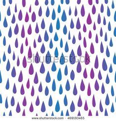 Seamless rain pattern. Vector illustration