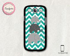 Mint Chevron Elephant Samsung Galaxy S3 Case Samsung by CaseGarden, $9.99
