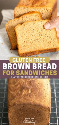 "Hearty and ""wheaty"" tasting, this gluten free brown bread recipe is sure to be a family favorite. Learn how to make gluten free bread the easy way! Gluten Free Brown Bread Recipe, Gluten Free Bread Maker, Wheat Free Bread, Bread Maker Recipes, Gluten Free Cooking, Allergy Free Recipes, Gf Recipes, Baking Recipes, Recipies"