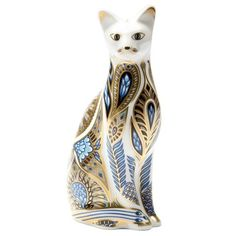 Royal Crown Derby - Paperweight Siamese Blue Point Cat