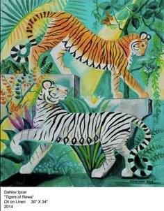 The bright work of Dahlov Ipcar - Kennebec Journal & Morning Sentinel Big Cats Art, Cat Art, Tiger Art, Cat Colors, Bird Patterns, Sketchbook Inspiration, Here Kitty Kitty, Illustration Art, Animal Illustrations