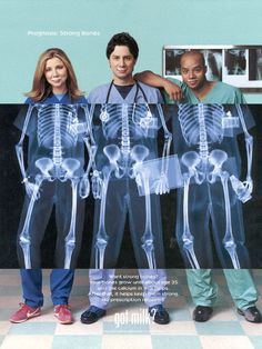 Sarah Chalke, Zach Braff and Donald Faison