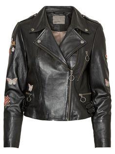 Feminine leather jacket