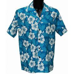 Authentique Chemise hawaienne ...MOLOKAI TURQOISE