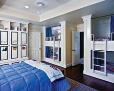 Traditional Kids Bedroom - Find more amazing designs on Zillow Digs! Koje, Bunk Beds Built In, House Of Turquoise, Bunk Rooms, Bedrooms, Dream Bedroom, Kids Bedroom, Bedroom Decor, Custom Bunk Beds