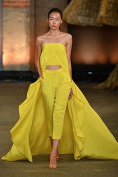 Pin for Later: The Ultimate Guide to Spring's Biggest Color Trends Feel the Sunshine Christian Siriano Spring 2014