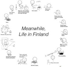 Meanwhile in Finland :) Finnish Memes, Meanwhile In Finland, Swedish Blonde, Learn Finnish, Nordics Hetalia, Finnish Language, Funny V, History Memes, Laughing So Hard