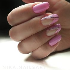 The advantage of the gel is that it allows you to enjoy your French manicure for a long time. There are four different ways to make a French manicure on gel nails. The choice depends on the experience of the nail stylist… Continue Reading → Oval Nails, Pink Nails, My Nails, French Nails, Cute Nails, Pretty Nails, Short Fake Nails, Nagellack Trends, Cute Nail Designs