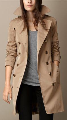 Trench Coats for Women - Geometric Undercollar Trench Coat Trench Coat Outfit, Burberry Trench Coat, Camel Coat, Coat Dress, Best Winter Coats, Winter Coats Women, Fall Coats, Fall Jackets, Dress Coats For Women