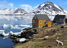 Kulusuk, Kulusuk Island, East Greenland.  Kulusuk is a small settlement in eastern Greenland.