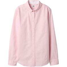 WOMEN OXFORD LONG SLEEVE SHIRT Color: 11 PINK