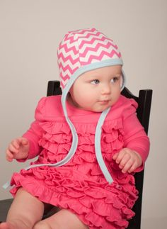 Baby Pilot Hat With Circles Size Large Pilot Cap Hearing