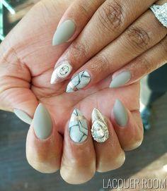 Fanciness #LacquerRoom #nailart #nails #nailstagram #nailporn #naildesigns #freehand #marble #matte #mattenails #stilettonails #bronxnailsalons #FunkyNailPolish