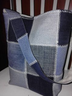 Best 12 Embroidered denim bag Jeans bag with ribbons embroidered Recycled fabric sac Summer floral purse Shoulder bagful Eco friendly tote bag Sacs Tote Bags, Denim Tote Bags, Denim Handbags, Denim Purse, Jean Purses, Purses And Bags, Bag Women, Patchwork Jeans, Denim Crafts