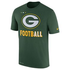 NIKE NIKE MEN'S GREEN BAY PACKERS NFL LEGEND ONFIELD T-SHIRT. #nike #cloth #