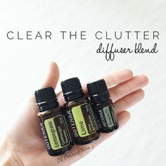 Do you need motivation to start cleaning up your home? Diffuse Clear the Clutter blend and you will be pumped to eliminate all unnecessary items in your space. In order to create forward movement in your health, career, relationships, and even your spiritual life, is important to purge the excess. The accumulation of stuff we don't need has a tendency to slow down our energy and congest our life with toxicity. Equal parts Lime, Lemongrass, Douglas Fir. I did 7 drops each for my big diffuser…