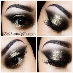 dramatic gold eyeshadow