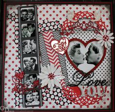 Retro Romance - A DT Project for Gina's Designs - Scrapbook.com