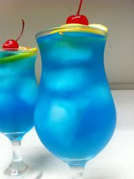 A delicious recipe for a Blue Long Island Ice Tea made with vodka, tequila, rum, gin and blue curacao.