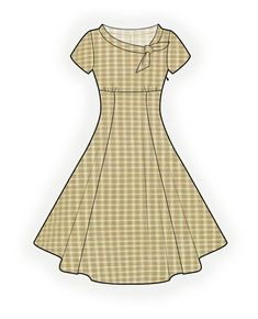 Jurk - Naaipatroon #4368. Made-to-measure sewing pattern from Lekala with free online download.