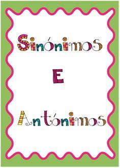 """Cantinho do Primeiro Ciclo: Unidade """"Sinónimos e antónimos"""""""