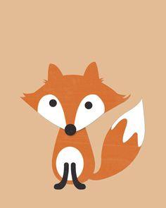 Nursery Quad Woodland Nursery Fox Nursery Set of 4 by ChicWallArt