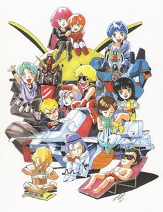 Zeta Gundam art by Hiroyuki Kitazume Old Anime, Anime Manga, Japanese Robot, Zeta Gundam, Gundam Wallpapers, Sci Fi Armor, Gundam Seed, Human Drawing, Gundam Art