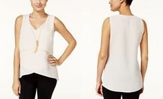 Thalia Sodi Layered Necklace Tank Top, Only at Macy's