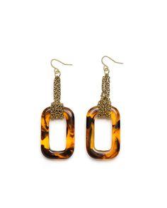 Tortoise Deco Earrings