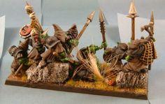 goblin multibase multi base regiment regimental basing terrain fancy | SKEEZERS PRIDE - NIGHT GOBLIN SPEAR REGIMENT - continued
