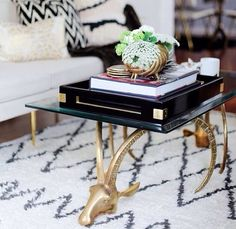 This gold table is everything