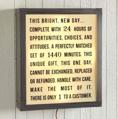 A brighter way to begin each new day