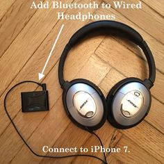The CoolStream Duo will bring Bluetooth to your wired headphones. #Bose #Bluetooth #headphones