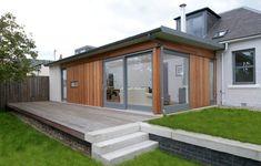 extérieur design et extension de maison en bois