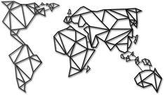 Décoration murale métal noire Carte du Monde - Hoagard - Image 1