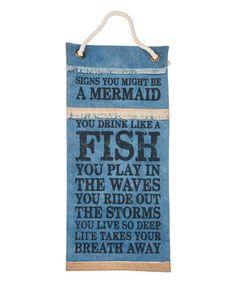 Look what I found on #zulily! 'A Mermaid' Banner #zulilyfinds