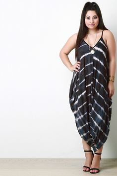 Plus Size Striped Tie Dye Draped Romper Plus Size Outfits, Trendy Outfits, Plus Size Romper, Beautiful Models, I Dress, Fashion Boutique, Plus Size Fashion, Tie Dye, Cold Shoulder Dress