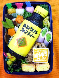 Agent Yunker energy drink / japanese lunch = Bento