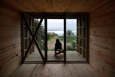 rudolphy and soffia revisit the design process with the ritoque hostel. private deck from the bedroom