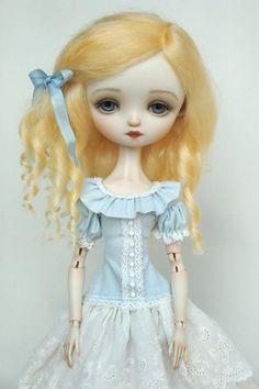 Julie Blue - porcelain BJD.  Dressed