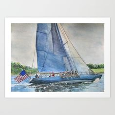 Buy Sailing on Columbia 12 US 16 Art Print by DJ Beaulieu. Worldwide shipping available at Society6.com. Just one of millions of high quality products available.