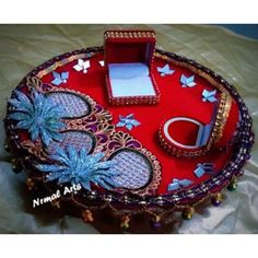 Online Shopping for Engagement Thali (Double Ring) | Wedding | Unique Indian Products by Nirmal Arts - MNIRM47294867570